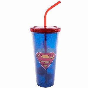 Copo Com Cubos De Gelo Super Homem 600ml - Liga Da Justiça