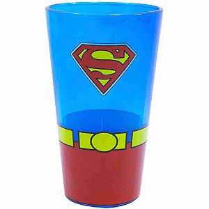 Copo Vidro Superman 450ml - Liga Da Justiça