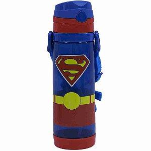 Garrafa De Plástico Com Alça Superman 550ml - Liga Da Justiça