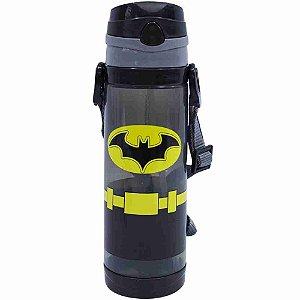 Garrafa De Plástico Com Alça Batman 550ml - Liga Da Justiça