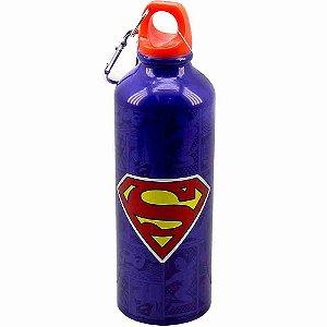 Garrafa De Alumínio Com Prendedor Super Homem 500ml - Liga Da Justiça