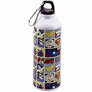 Garrafa De Alumínio Com Prendedor Quadrinhos 500ml - Liga Da Justiça