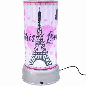 Luminária Giratória Paris Love - Projeto Kiwi