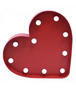 Luminária Coração Vermelha 10 Lâmpadas