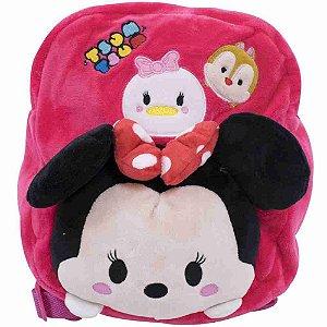 Mochila Infantil Minnie Tsum tsum Pelúcia - Disney