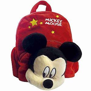 Mochila Com Mickey De Pelúcia - Disney