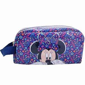 Necessaire Roxo Florido Minnie - Disney