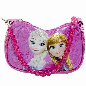 Bolsa Rosa Anna & Elsa Frozen Com Alça De Miçanga - Disney