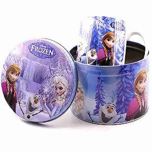 Caneca De Porcelana Na Lata 350ml Frozen - Disney