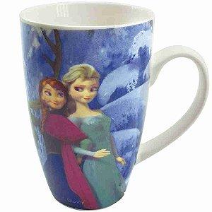 Caneca Porcelana Irmãs Frozen Olhar 400ml - Disney