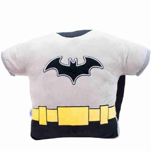 Almofada Fibra Formato Batman 40x14x56cm - Liga Da Justiça