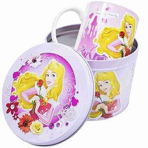 Caneca De Porcelana Na Lata Aurora 350ml - Disney