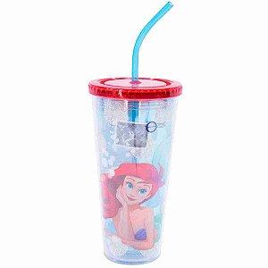 Copo Com Cubos De Gelo Sereia Ariel 600ml - Disney