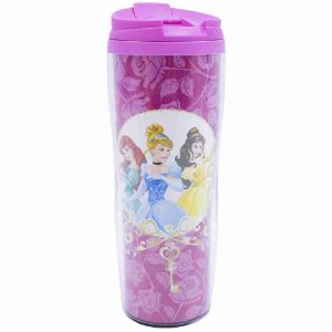 Copo Rosa Térmico Princesas 450ml - Disney