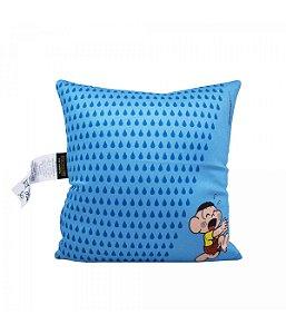 Almofada Quadrada Azul Cascão (Isopor) - Turma Da Mônica