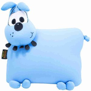 Almofada Azul Na Forma De Bidu (Isopor) - Turma Da Mônica