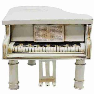 Piano Porta Moeda 11cm Retrô - Vintage