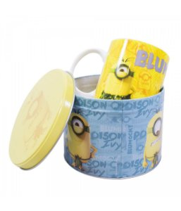 Caneca De Porcelana Na Lata Blumock 350ml - Minions | Meu Malvado Favorito
