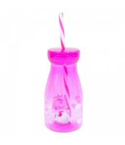 Copo Rosa Com Canudo I Believe In Unicorns 350ml - Disney