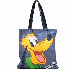 Bolsa Cinza Pluto 36x36cm - Disney