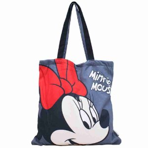 Bolsa Cinza Minnie Mouse 36x36cm - Disney