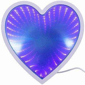 Luminária Coração Luzes Profundidade