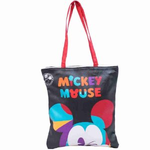Bolsa Mickey Piscando 36x2x32cm 90 Anos - Disney