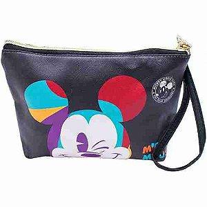 Necessaire Mickey Piscando 17x5x22cm 90 Anos - Disney