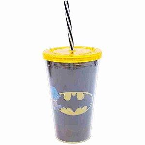 Copo Com Canudo Batman 450ml - Liga Da Justiça (Desenho)