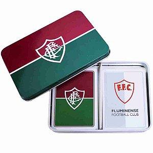 Jogo Com 2 Baralhos Dentro Da Lata - Fluminense