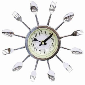 Relógio Parede Talheres 29x29cm