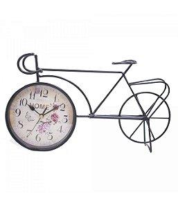 Bicicleta Preto Relógio 38cm