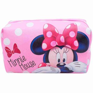 Necessaire Rosa Retangular Minnie 13x20x10cm - Disney