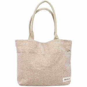 Bolsa Marrom Shopping Bag Bella + Charlie 44X32X13cm