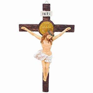 Crucifixo 53cm - Enfeite Resina