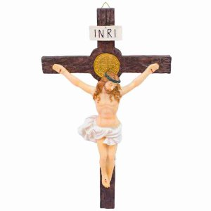 Crucifixo 42cm - Enfeite Resina