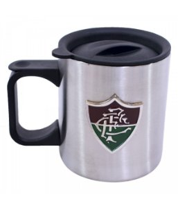Caneca De Inox Com Tampa 370ml - Fluminense
