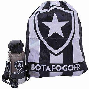 Garrafa 500ml Com Mochila Tipo Saco - Botafogo