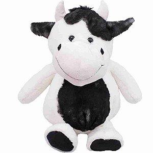 Vaca Barriga Preta 29cm - Pelúcia