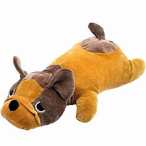 Cachorro Pug Francês Marrom Deitado 45cm - Pelúcia