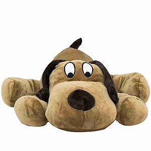Cachorro Marrom Deitado 40cm - Pelúcia