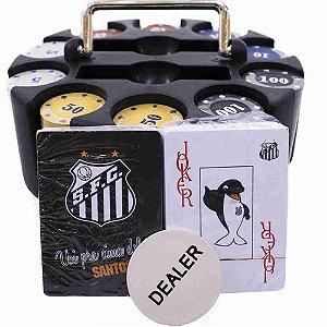 Jogo De Poker 200 Fichas E Baralhos - Santos