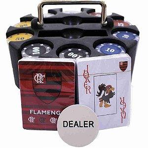 Jogo De Poker 200 Fichas E Baralhos - Flamengo