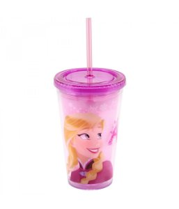 Copo Com Canudo Anna 450ml Frozen - Disney