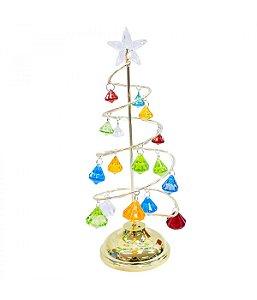 Luminária Árvore Natal Colorido 25.5cm
