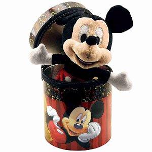 Boneco Chaveiro Mickey 23cm Na Lata - Disney