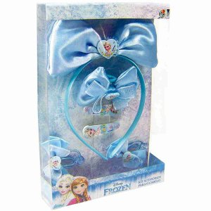 Jg Acessórios Para Cabelo Azul Elsa Frozen - Disney
