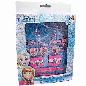 Jogo De Acessórios Para Cabelo Ana & Elsa Frozen (Rosa) - Disney