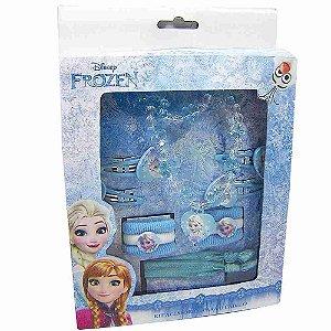 Jogo De Acessórios Para Cabelo Elsa Frozen (Azul) - Disney