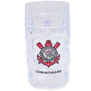 Caneca Plástico Gigante 900ml - Corinthians